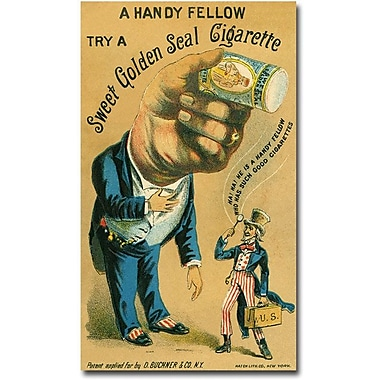 Trademark Global in.Golden Seal Cigarettes, 1890in. Canvas Art, 47in. x 30in.