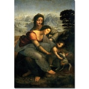 Trademark Global Leonardo da Vinci Virgin and Child with St.Anne Canvas Art, 47 x 30