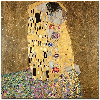 Trademark Global Gustav Klimt in.The Kiss 1907 8in. Canvas Art, 18in. x 18in.