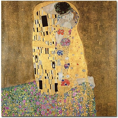 Trademark Global Gustav Klimt in.The Kiss 1907 8in. Canvas Arts