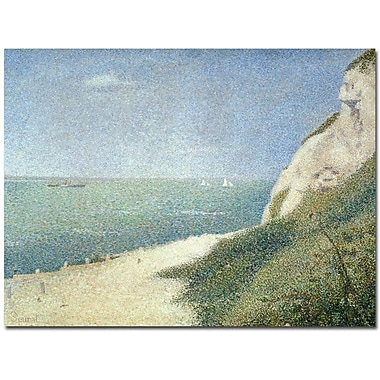 Trademark Global Georges Seurat in.Beach at Bas Butin - Honfleur - 1886in. Canvas Arts
