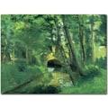 Trademark Global Camille Pissarro in.The Little Bridge Pontoise 1875in. Canvas Art, 18in. x 24in.