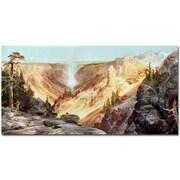Trademark Global Thomas Moran The Grand Yellowstone, 1877 Canvas Art, 24 x 47