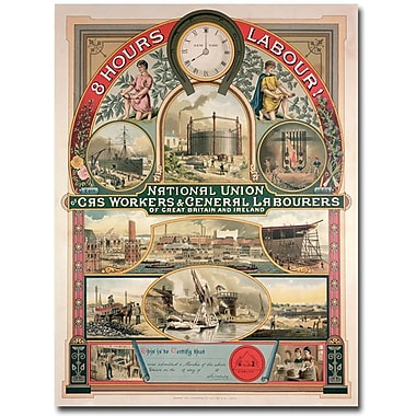 Trademark Global in.National Union, Gas and General Labourers, 1889in. Canvas Art, 47in. x 35in.