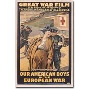 "Trademark Global Victor Tardieu ""Our American Boys in the European War"" Canvas Art, 32"" x 24"""