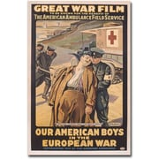 "Trademark Global Victor Tardieu ""Our American Boys in the European War"" Canvas Art, 47"" x 30"""
