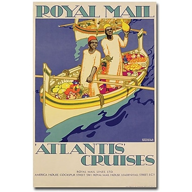 Trademark Global Kenneth Shoesmith in.Atlantis Cruises, 1930in. Canvas Arts