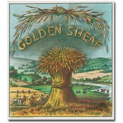 "Trademark Global ""Golden Sheaf Cigar Label"" Canvas Art, 18"" x 18"""