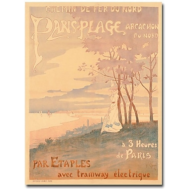 Trademark Global in.Trains to Paris-Plage, 1899in. Canvas Arts