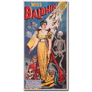 "Trademark Global ""Miss Baldwin A Modern Witch of Endor 1888"" Canvas Art, 47"" x 24"""