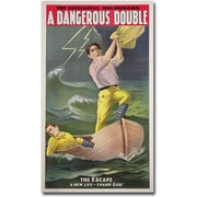 "Trademark Global ""A Dangerous Double, 1899"" Canvas Art, 47"" x 24"""