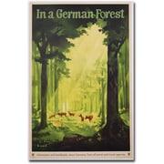 "Trademark Global Jupp Wiertz ""In a German Forest 1935"" Canvas Art, 24"" x 16"""