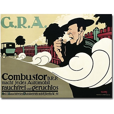 Trademark Global Hans Rudi Erdt in.Reduce Pollutant Emission Carsin. Canvas Art, 35in. x 47in.