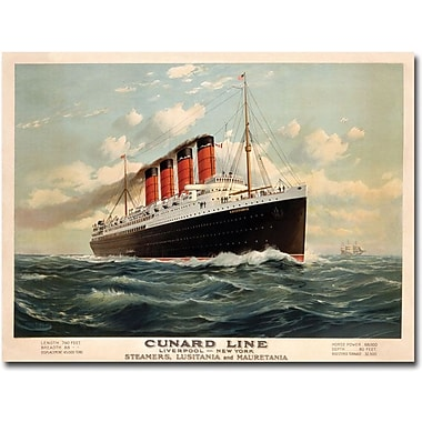 Trademark Global Fred Pansing in.Cunard Line, 1908in. Canvas Arts