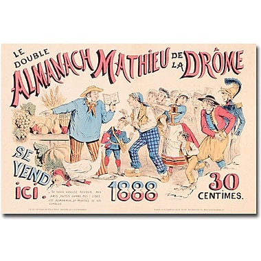 Trademark Global in.Almanach Mathieu de la Drome, 1888in. Canvas Art, 30in. x 47in.