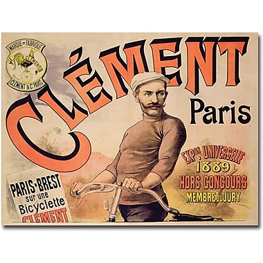 Trademark Global in.Clement Bicycles, 1889in. Canvas Arts