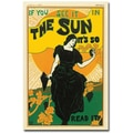 Trademark Global Louis Rhead in.The Sun Newspaper 1895in. Canvas Art, 47in. x 30in.