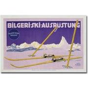 "Trademark Global Carl Kunst ""Skiing in Austria, 1912"" Canvas Art, 16"" x 24"""