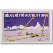 "Trademark Global Carl Kunst ""Skiing in Austria, 1912"" Canvas Art, 30"" x 47"""