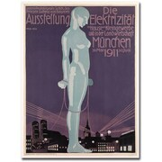 "Trademark Global Paul Neu ""Electricity Exhibition, 1911"" Canvas Arts"