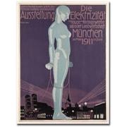 "Trademark Global Paul Neu ""Electricity Exhibition, 1911"" Canvas Art, 47"" x 35"""
