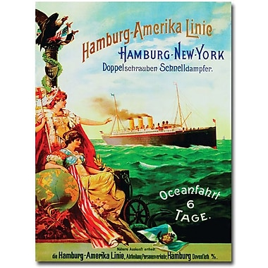 Trademark Global in.Hamburg-America Line, 1987in. Canvas Art, 32in. x 24in.