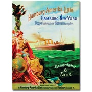 "Trademark Global ""Hamburg-America Line, 1987"" Canvas Arts"