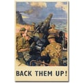 Trademark Global in.Back Them Up 1941in. Canvas Art, 24in. x 16in.