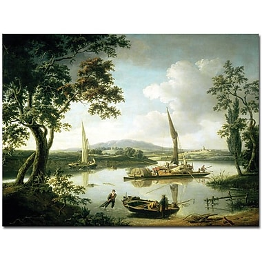 Trademark Global John Serres in.View of the Thames from Shillingfordin. Canvas Art, 35in. x 47in.