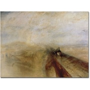 "Trademark Global Joseph Turner ""Rain, Steam and Speed, 1844"" Canvas Art, 35"" x 47"""