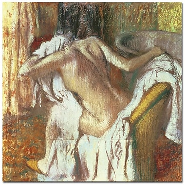 Trademark Global Edgar Degas in.Woman Drying Herself 1888 92in. Canvas Art, 35in. x 35in.