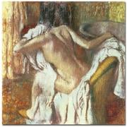 Trademark Global Edgar Degas Woman Drying Herself 1888 92 Canvas Art, 35 x 35