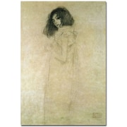 "Trademark Global Gustav Klimt ""Portrait of a Young Woman, 1896-97"" Canvas Art, 24"" x 16"""