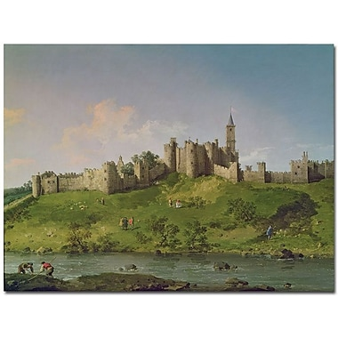 Trademark Global Canatello in.Alnwick Castlein. Canvas Art, 24in. x 32in.
