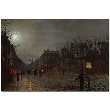 Trademark Global John Atkinson Grimshaw in.Going Home at Dusk 1882in. Canvas Art, 16in. x 24in.