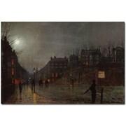 "Trademark Global John Atkinson Grimshaw ""Going Home at Dusk 1882"" Canvas Art, 16"" x 24"""