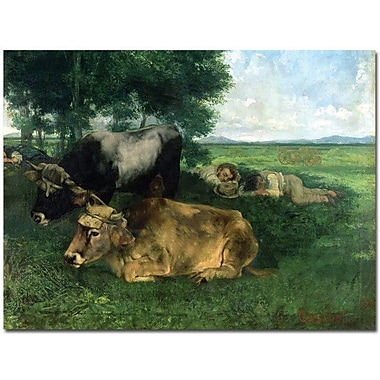 Trademark Global Gustave Courbet in.La Siestain. Canvas Art, 18in. x 24in.