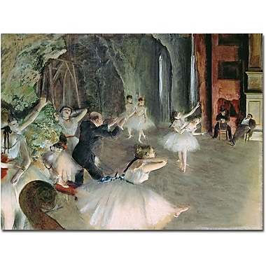 Trademark Global Edgar Degas in.The Rehearsal of the Ballet on Stagein. Canvas Art, 35in. x 47in.