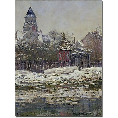 Trademark Global Claude Monet in.The Church at Vetheuil 1879in. Canvas Art, 24in. x 18in.