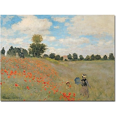 Trademark Global Claude Monet in.Wild Poppies near Argenteuilin. Canvas Arts