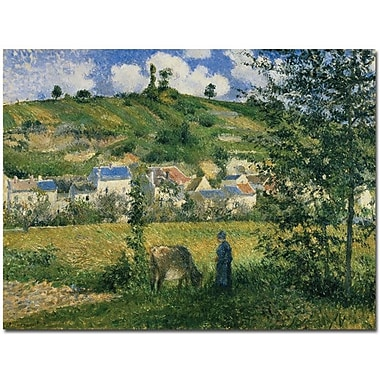 Trademark Global Camille Pissarro in.Landscape at Chaponval 1880in. Canvas Art, 18in. x 24in.