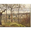 Trademark Global Camille Pissarro in.Winter Landscape at Louveciennes 1873in. Canvas Art, 26in. x 32in.