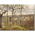 Trademark Global Camille Pissarro in.Winter Landscape at Louveciennes 1873in. Canvas Arts