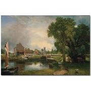 "Trademark Global John Constable ""Dedham Lock and Mill 1820"" Canvas Arts"
