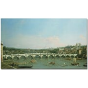 Trademark Global Canaletto Westminster Bridge Canvas Art, 30 x 47