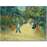 "Trademark Global Vincent van Gogh ""Public Gardens in Arles 1888"" Canvas Art, 18"" x 24"""