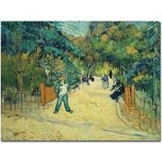 Trademark Global Vincent van Gogh Public Gardens in Arles 1888 Canvas Art, 26 x 32