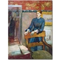 Trademark Global Edgar Degas in.Helene Routin Her Father's Studyin. Canvas Art, 24in. x 18in.