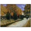 Trademark Global Vincent Van Gogh in.Path in the Park at Arles 1888in. Canvas Arts
