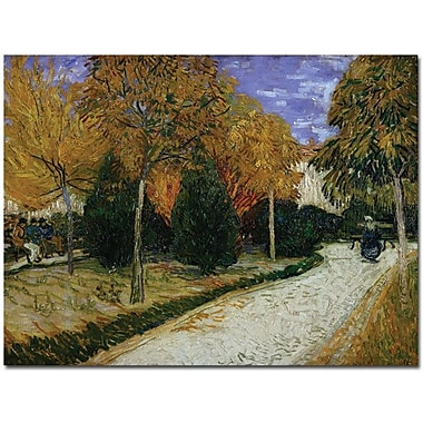 Trademark Global Vincent Van Gogh in.Path in the Park at Arles 1888in. Canvas Art, 35in. x 47in.
